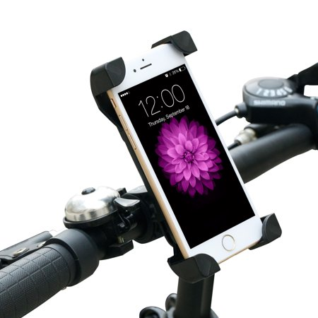Gimars Bike Phone Holder Bicycle   Motocycle Handlerbar Universal Cell Phone Mount Adjustable Rotating Cradle Securely Fit For Iphone 7 6S 6 Plus Samsung Galaxy Google Nexus Up To 3 5  Wide