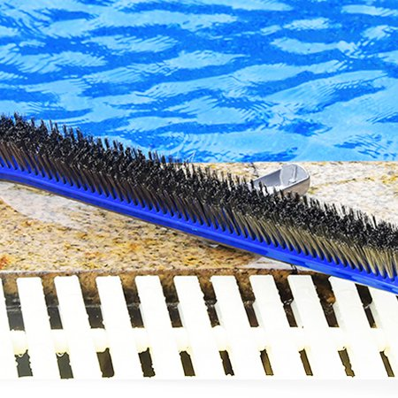 Homeholiday 10 inch Steel Wire Swimming Pool Brush Moss Algae Cleaning Tool Wide Pond Spa Hot Spring Pools Cleaner Brush - image 5 de 8