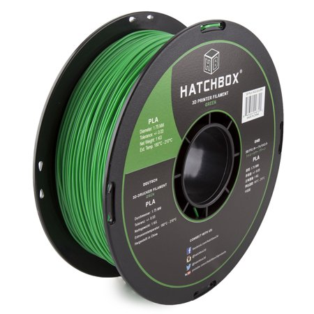 Hatchbox 3D Pla 1Kg1 75 Grn Pla 3D Printer Filament  Dimensional Accuracy     0 03 Mm  1 Kg Spool  1 75 Mm  Green