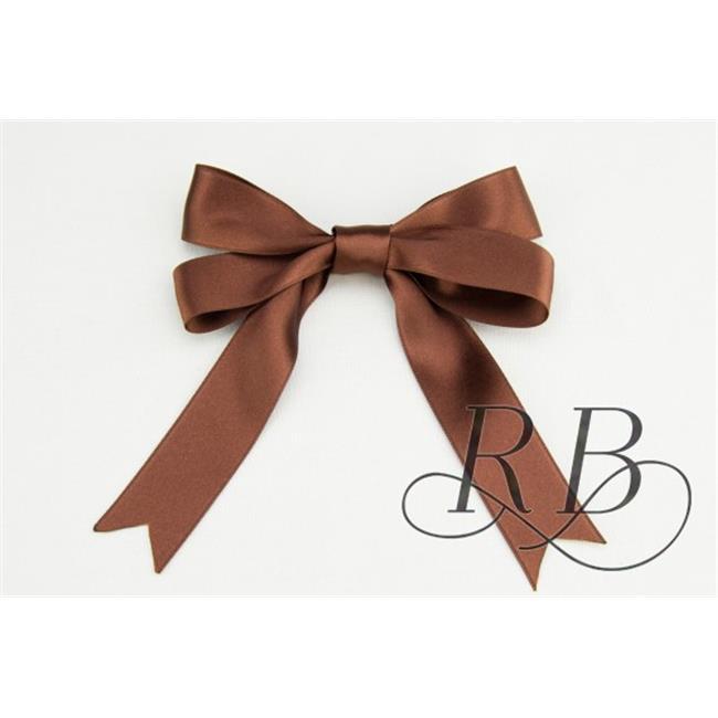 Ribbon Bazaar 6464 0.63 in. Luxious Satin Ribbon, Chocolate - 25 Yards