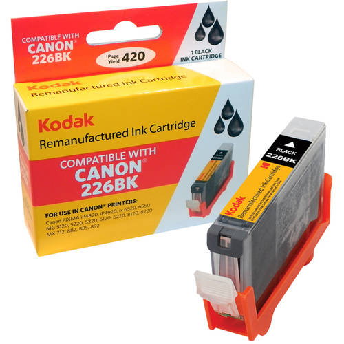 Kodak Remanufactured Ink Cartridge Compatible with Canon 226/226BK (CLI-226BK) High-Yield Black