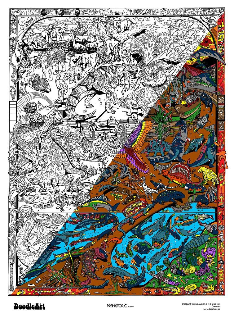 Doodle Art World - DAPRE01162 | The Original DoodleArt: Prehistoric ...