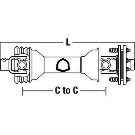 CS64816 Tractor Driveline w/ Friction Clutch for Bondoli & Pavesi 100 (Series Tractors Parts Catalog)