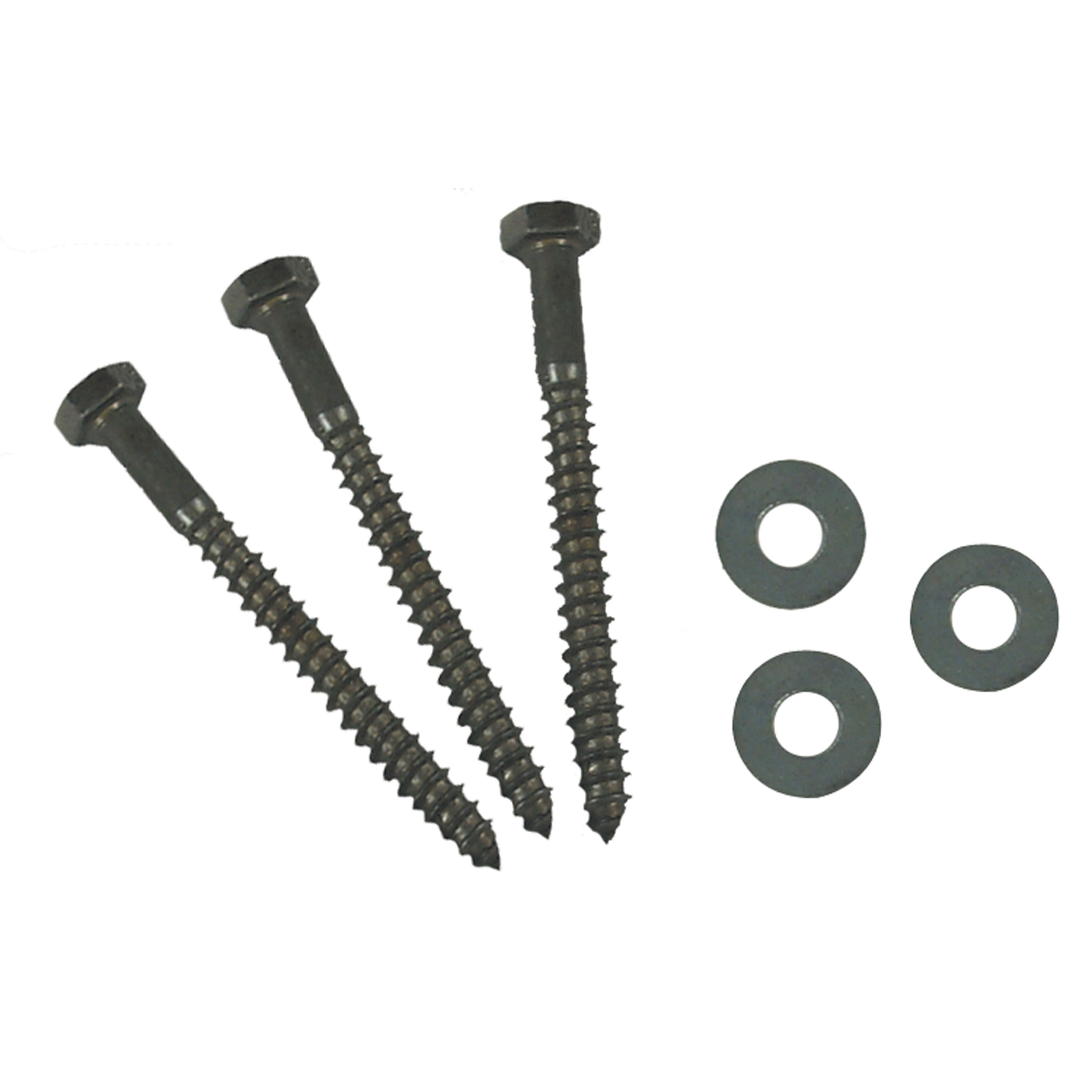 """AP Products 012-LW 25 3/8 X 4 Hex Lag Screw with Washer, Pack of 25 - 3/8"""" x 4"""""""