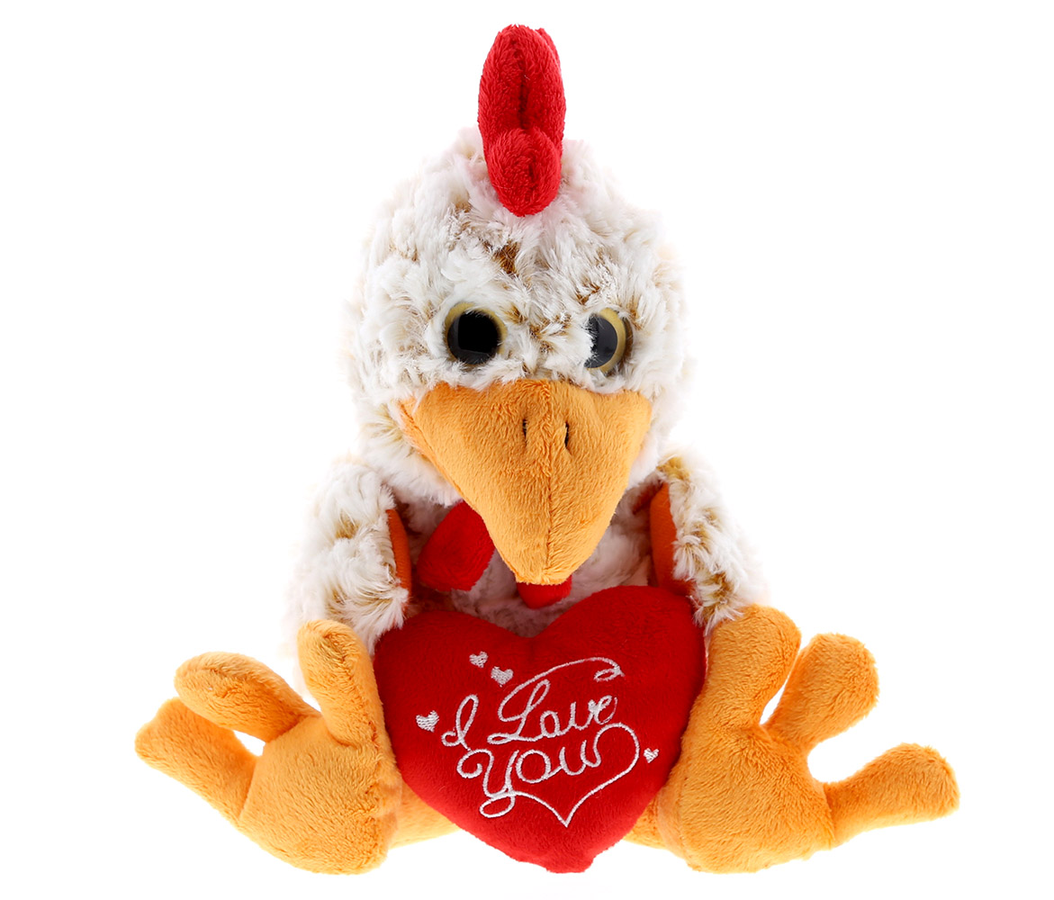 9 9 Getting Fit 5193 Puzzled Super Soft Sitting Rooster Plush