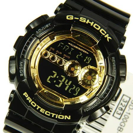 GD-100GB-1 Gold Black Mens G-SHOCK 200M Sport Watch Digital Resin Band G-shock 200m World Time Watch