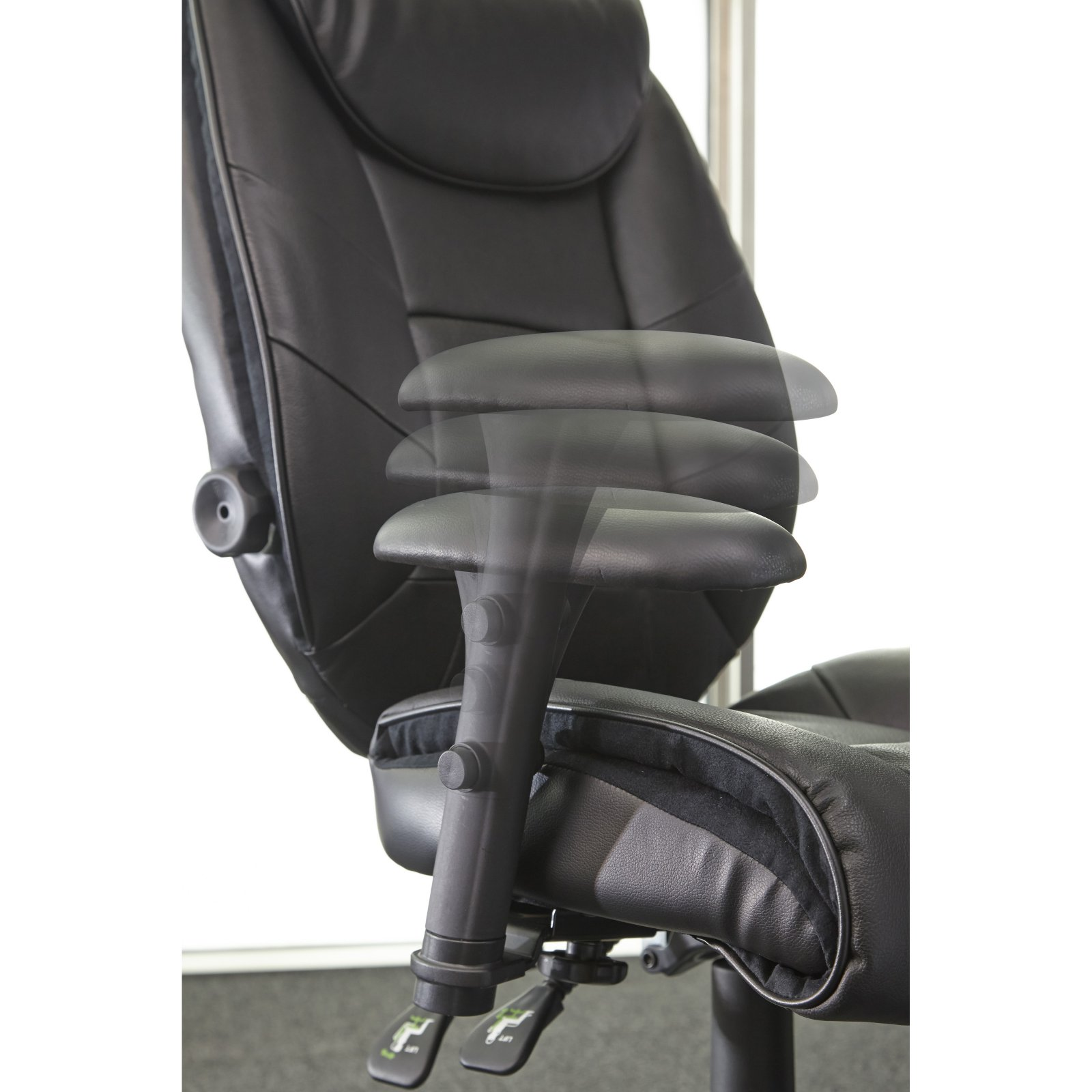 sealy posturepedic office chair memory foam chair, black - walmart