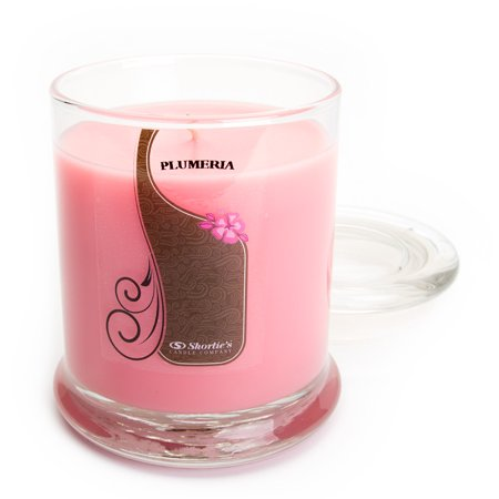 Pure Plumeria Candle - Medium Pink 10 Oz. Highly Scented Jar Candle - Made With Natural Oils - Flower & Floral - Flower Candles