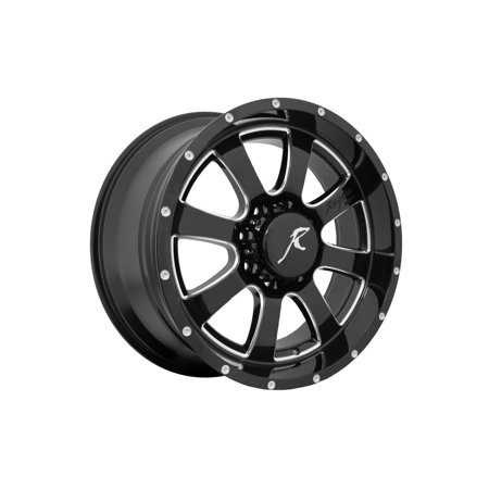 5150 Series - Raptor 5150B-209-8180-00 5150 Series Raptor Wheel; Size 20in.x9in.; Bolt 8x180mm; Offset 0; 8 Spoke; Gloss Black; CNC Milled Window/Rivets;