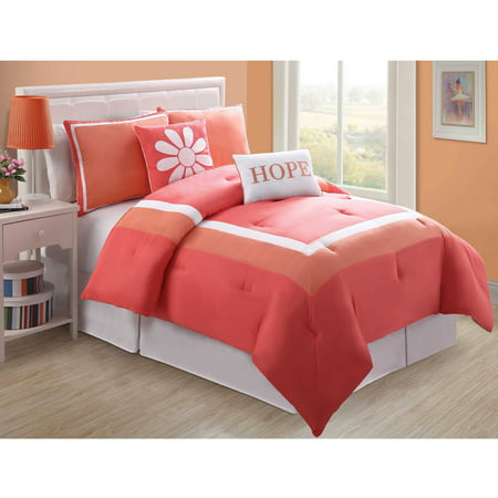 VCNY Home Hotel Juvi Kids 4/5 Piece Bedding Comforter Set, Decorative Pillows Included, Multiple Colors