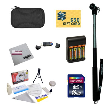 47th Street Photo - Essential Kit for Canon PowerShot SX160 Digital Camera with 4x AA Rechargable Batteries with Rapid Charger + 16GB Memory Card + Mini tripod + Slim Carrying Case + Cleaning Kit + More