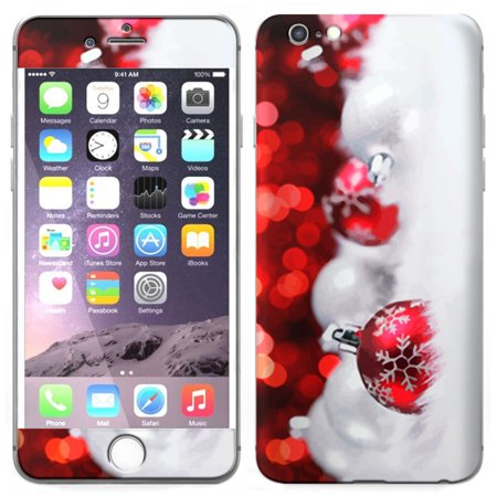 Skin Decal For Apple Iphone 6 Plus   Christmas Red Ball Art