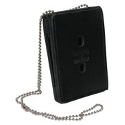 Size one size Leather Deluxe ID and Badge Holder Wallet