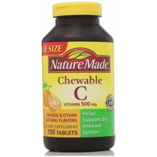 Nature Made Vitamin C 500 mg Chewable Tablets 150 ea (Pack of 2)