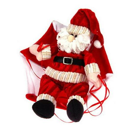 Pendant & Drop Ornaments - Christmas Home Ceiling Decorations Parachute 24cm Santa Claus Smowman New Year Hanging Pendant Christmas Decoration Supplies](Hanging Ceiling Christmas Decorations)