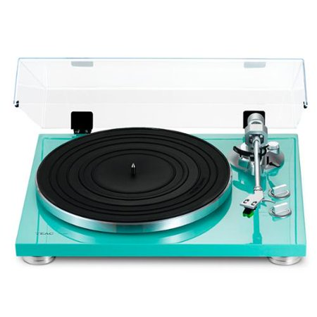 TEAC TN-300 Turquoise Turntable with Built-in Pre-amplifier & USB Output by
