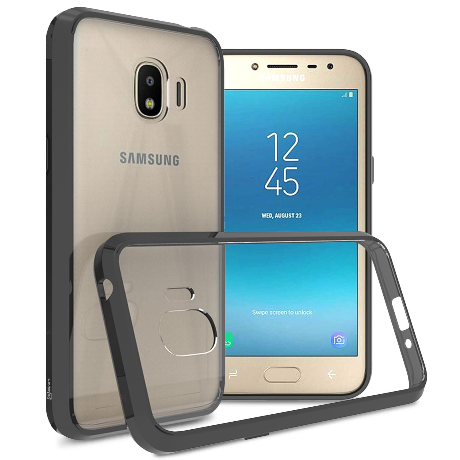 buy online 12356 ff7b1 CoverON Samsung Galaxy J2 Pro 2018 / Galaxy Grand Prime Pro 2018 Case,  ClearGuard Series Clear Hard Phone Cover