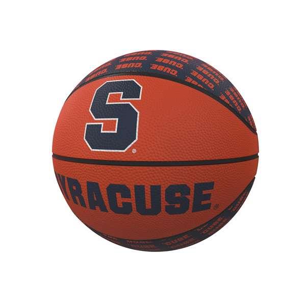 Syracuse Orange Repeating Logo Mini Size Rubber Basketball Walmart Com