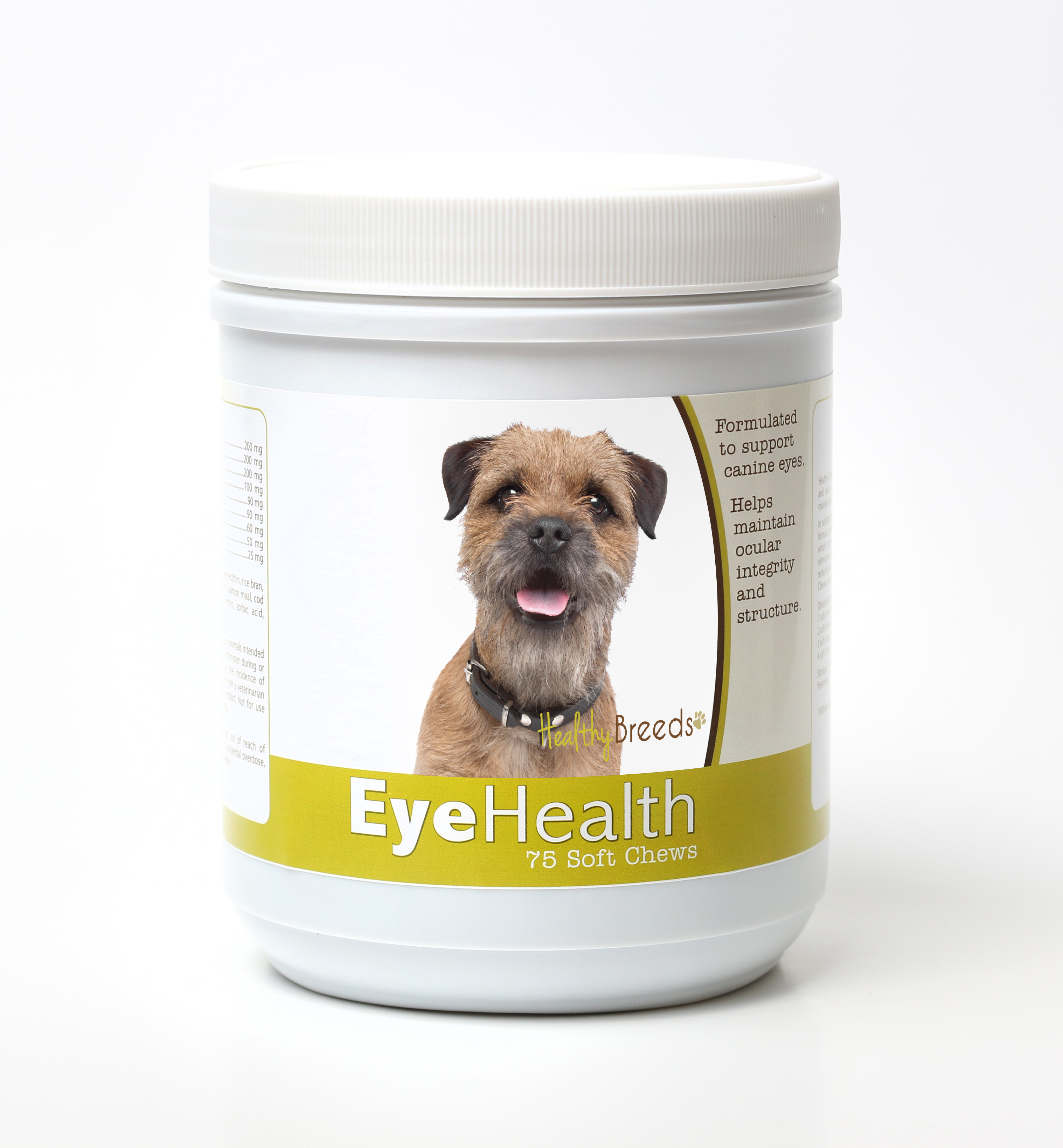 Healthy Breeds Dog Eye Health Support Soft Chews for Border Terrier 75 Count