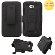 Car Armor Rugged Protector Cover Case w/Stand for LG Ultimate 2 Optimus L70