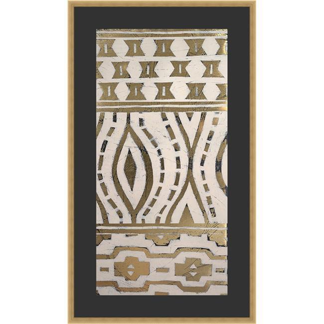 Somerset House Publishing 2290 Tribal Pattern in Cream II, Framed Textured Fine Art Print - image 1 of 1