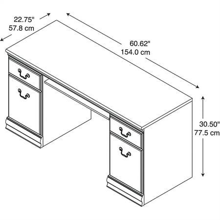 Bush Birmingham Credenza Desk with Keyboard Tray and Storage in Black - image 2 de 7