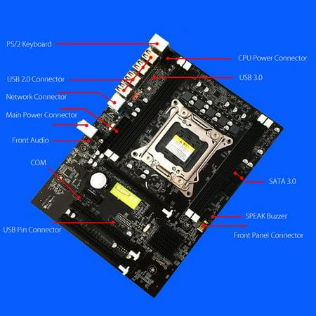 Desktop Computer PC ATX Motherboard Dual USB e5motherboard 3.0 For Intel E5 Motherboard X79 SOCKET LGA 2011 DDR3 Support E5 (Atx Dual Socket)