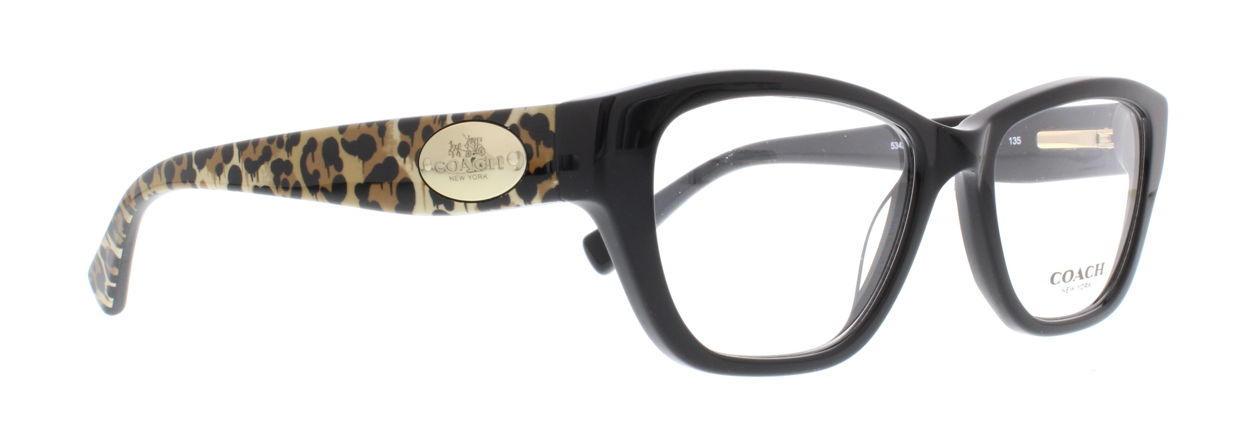 3b49b7dd0c COACH Eyeglasses HC 6070 5342 Black Wild Beast 51MM - Walmart.com