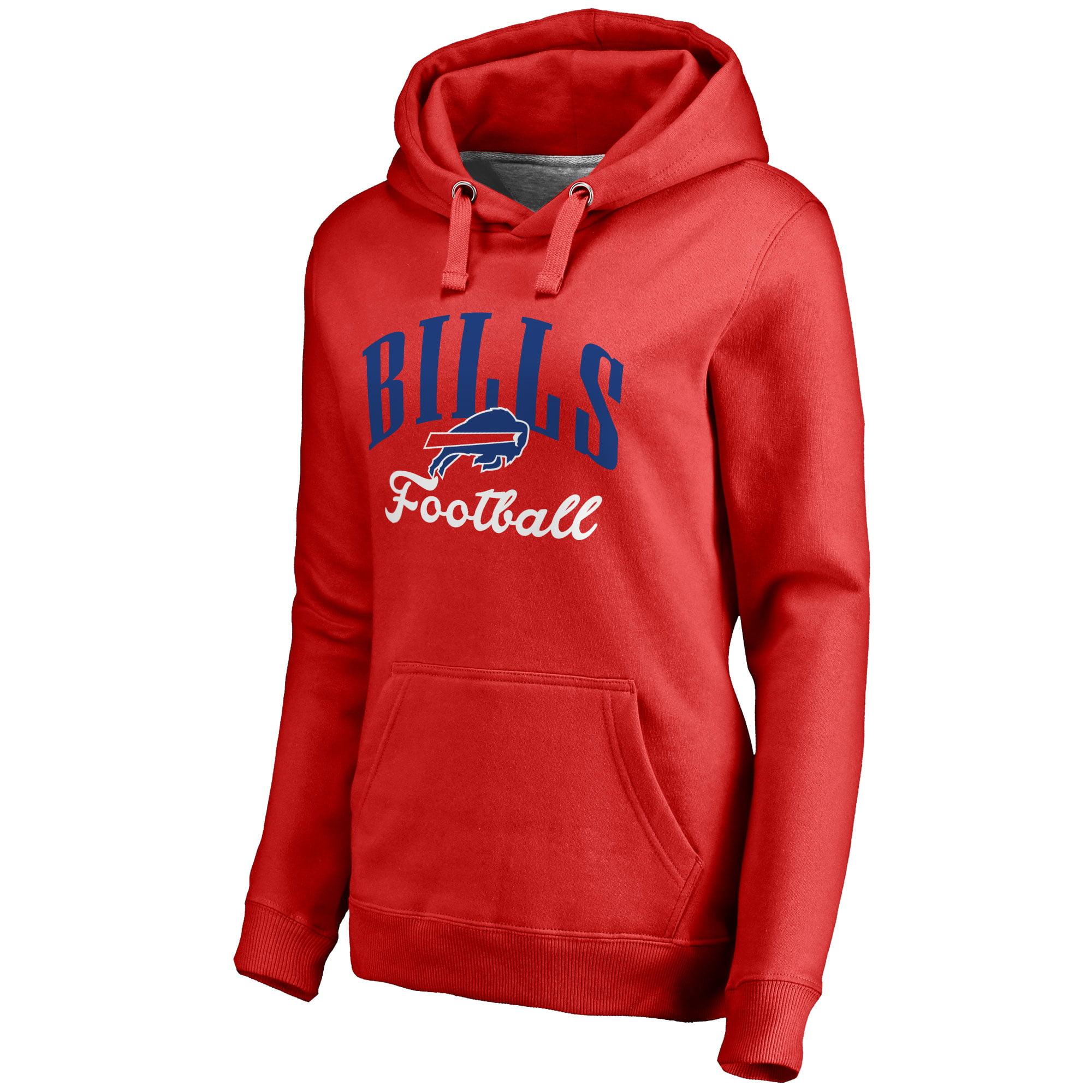 Buffalo Bills NFL Pro Line Women's Victory Script Pullover Hoodie - Red