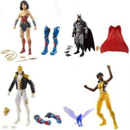 DC Multiverse Lex Luthor Series Set of 4 Action Figures (Lex Luthor Orange Lantern)