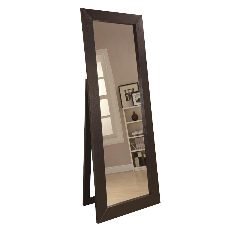 Bowery Hill Floor Mirror in Black by Bowery Hill
