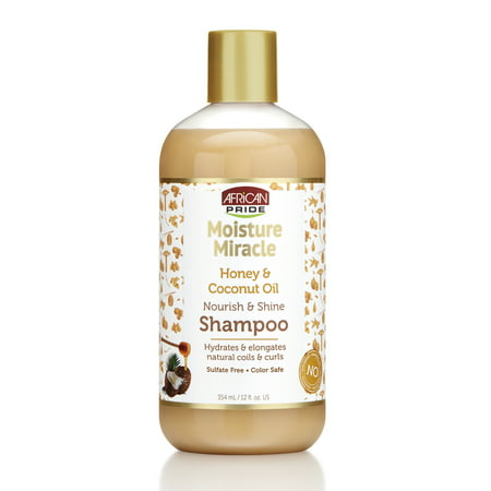 African Pride Moisture Miracle Shampoo, Nourish & Shine, 12