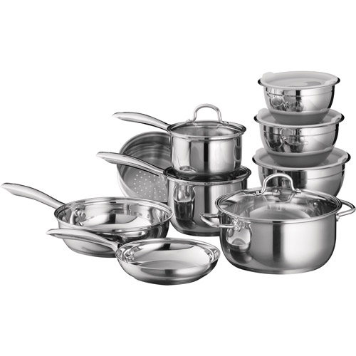Tramontina 15-Piece 18/10 Stainless Steel Cookware Set