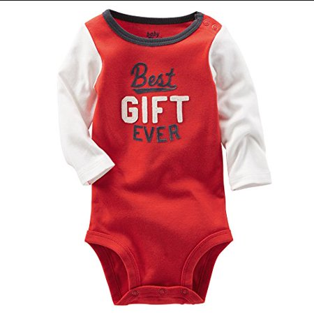 OshKosh B'gosh Baby Boys' Best Gift Ever Bodysuit - 24 (Best Gift For One Year Baby Boy)