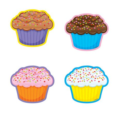 TREND enterprises, Inc. 36 Piece Cupcakes/mini Variety Bulletin Board Cut Out Set - Spider Cut Outs