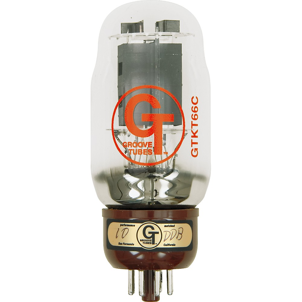 Groove Tubes Gold Series GT-KT66-C Matched Power Tubes High (8-10 GT Rating) Duet by Groove Tubes