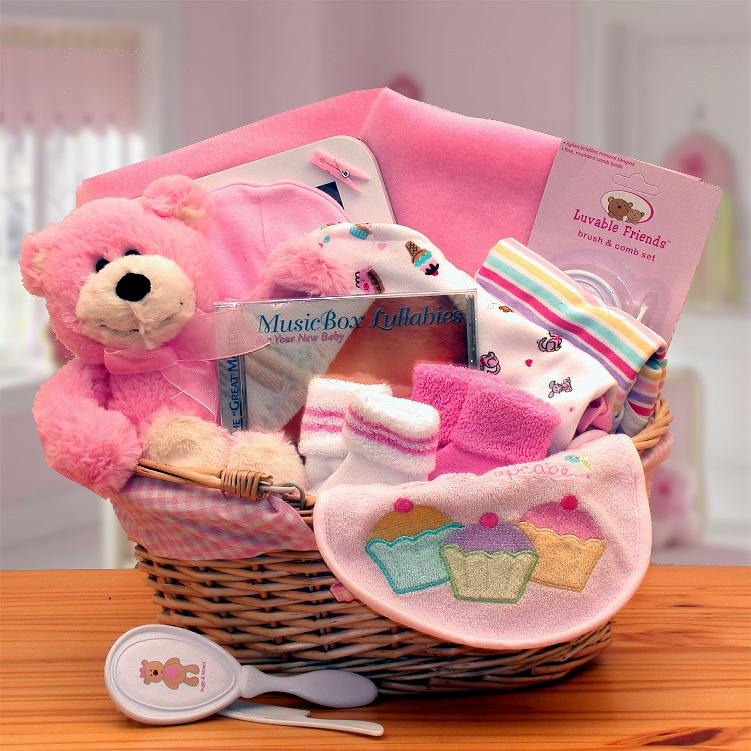 Trend Lab Simply the Baby Basics New Baby Gift Basket in ...