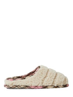 DF by Dearfoams Women's Sherpa Clog Slippers