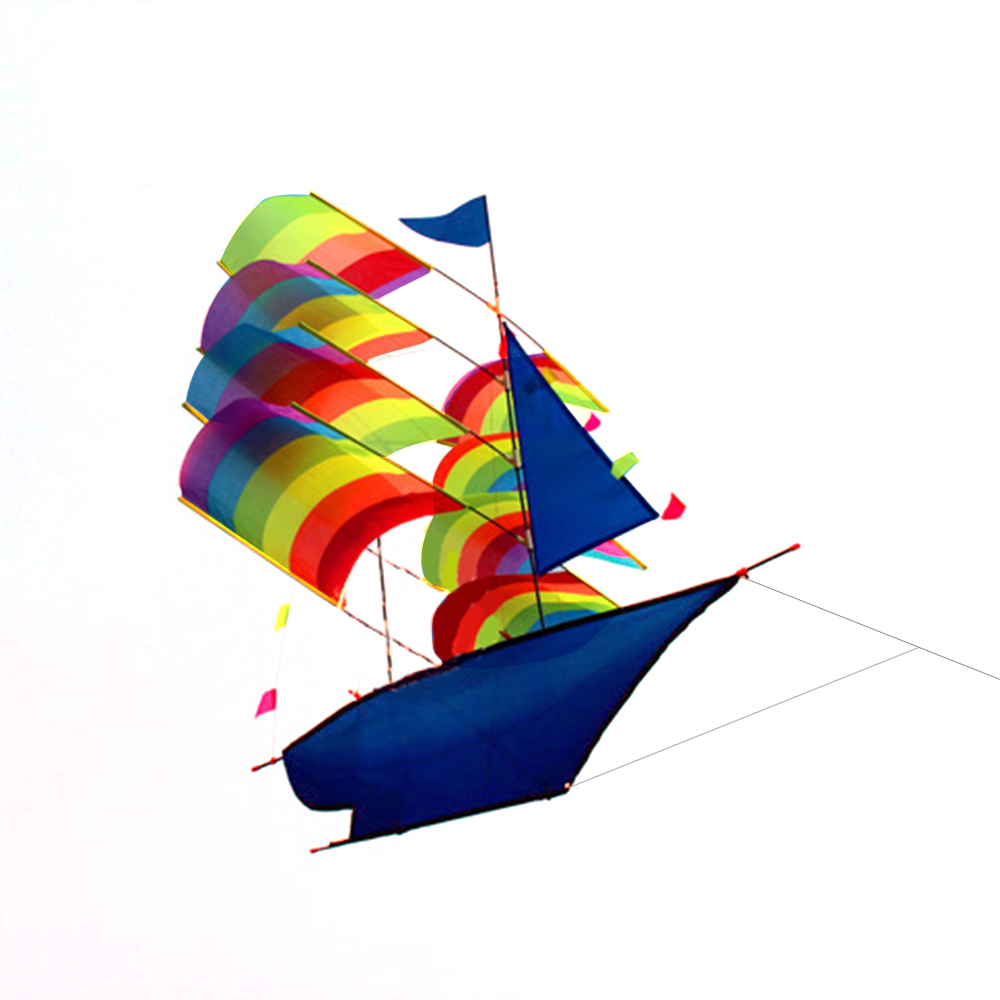 3D Sailboat Kite for Kids and Adults Sailing Boat Flying Kite with String and Handle Outdoor Beach Park Sports... by