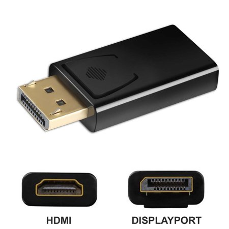 New Display Port to HDMI Male Female Adapter Converter DisplayPort DP to