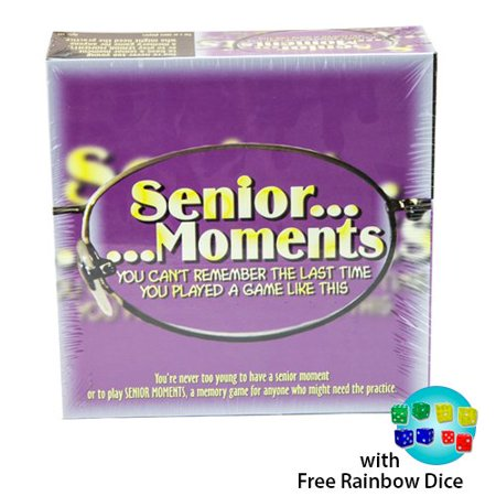 Senior Moments Board Game w/ Free Rainbow Dice Pack, Senior Moments Board Game By TDC Games - Halloween Game Ideas For Seniors