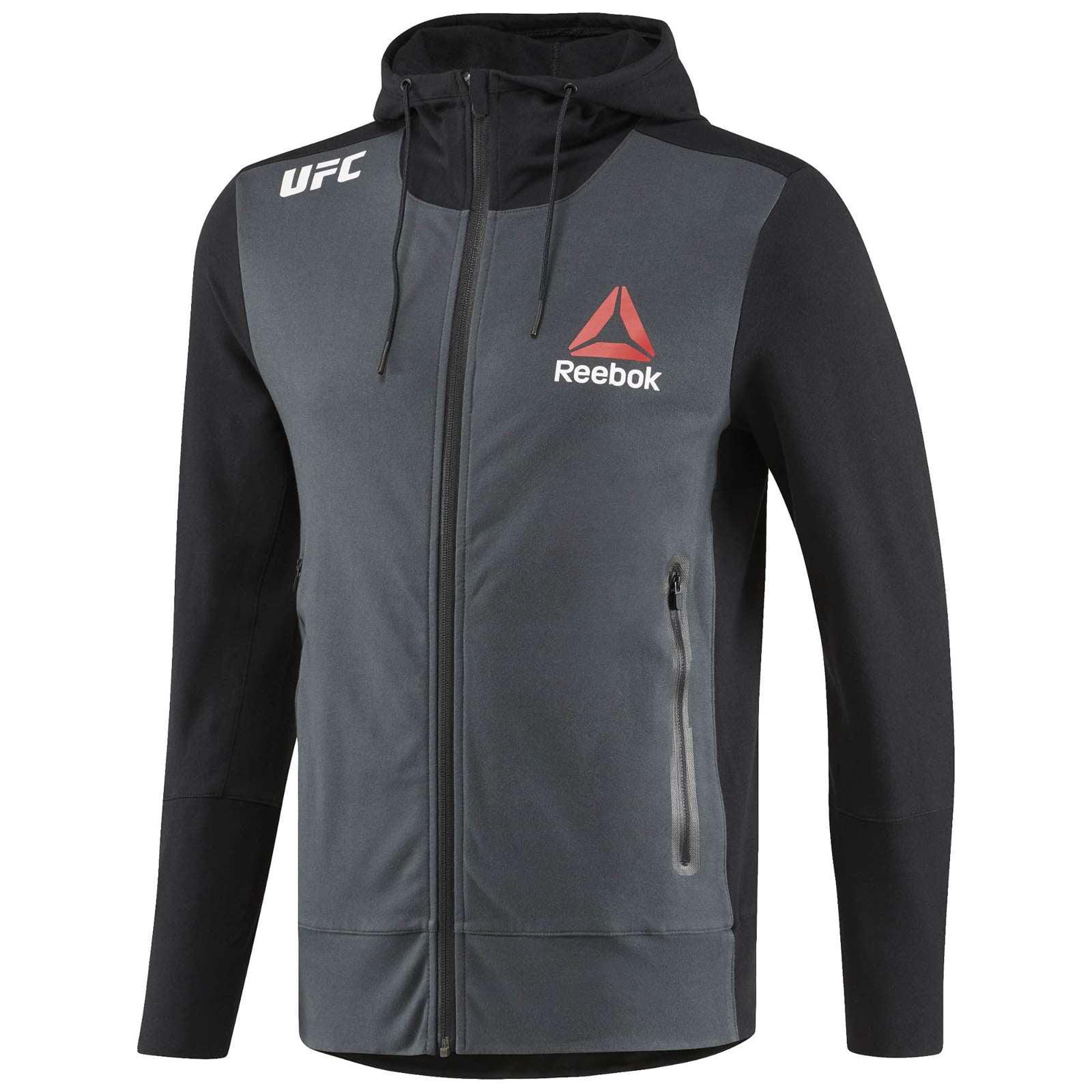 Reebok Men/'s X UFC FK Walkout Full Zip Long Sleeve Hoodie Jacket Tag-less NEW