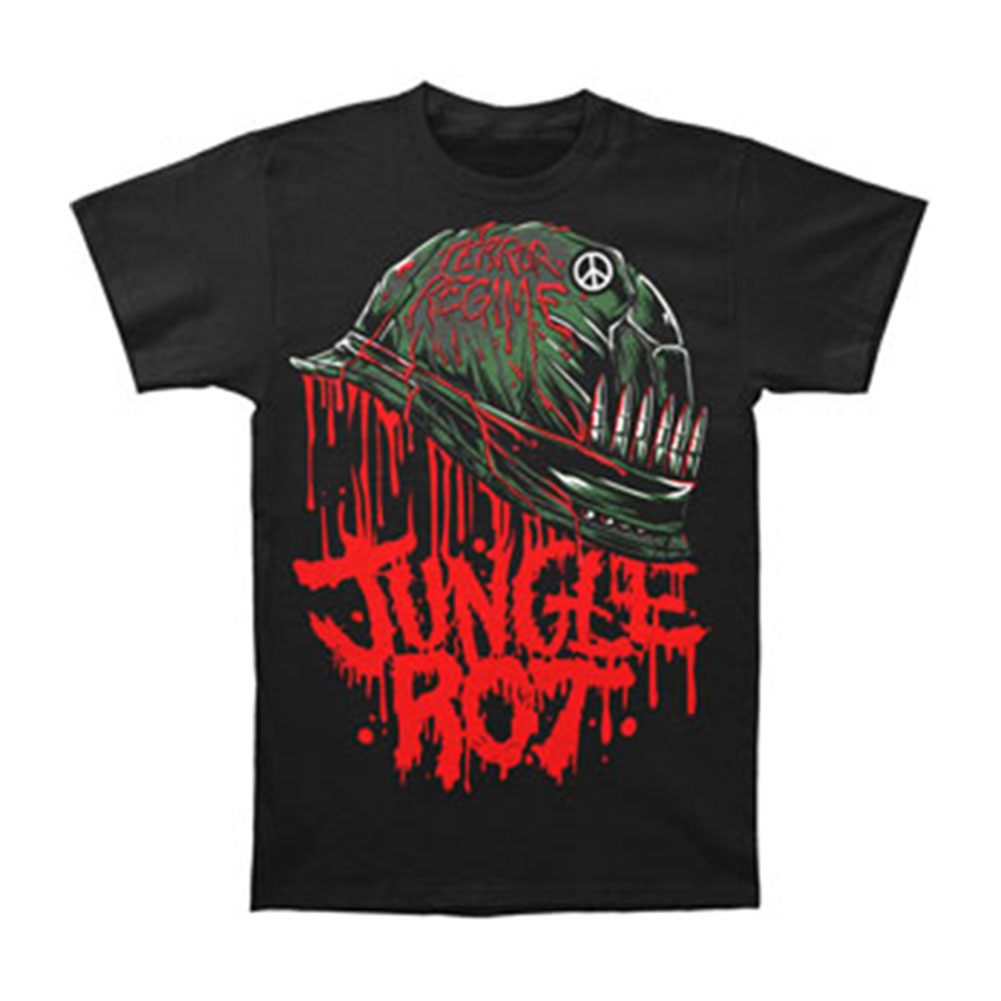 Jungle Rot Men's  Full Metal Rot T-shirt Black