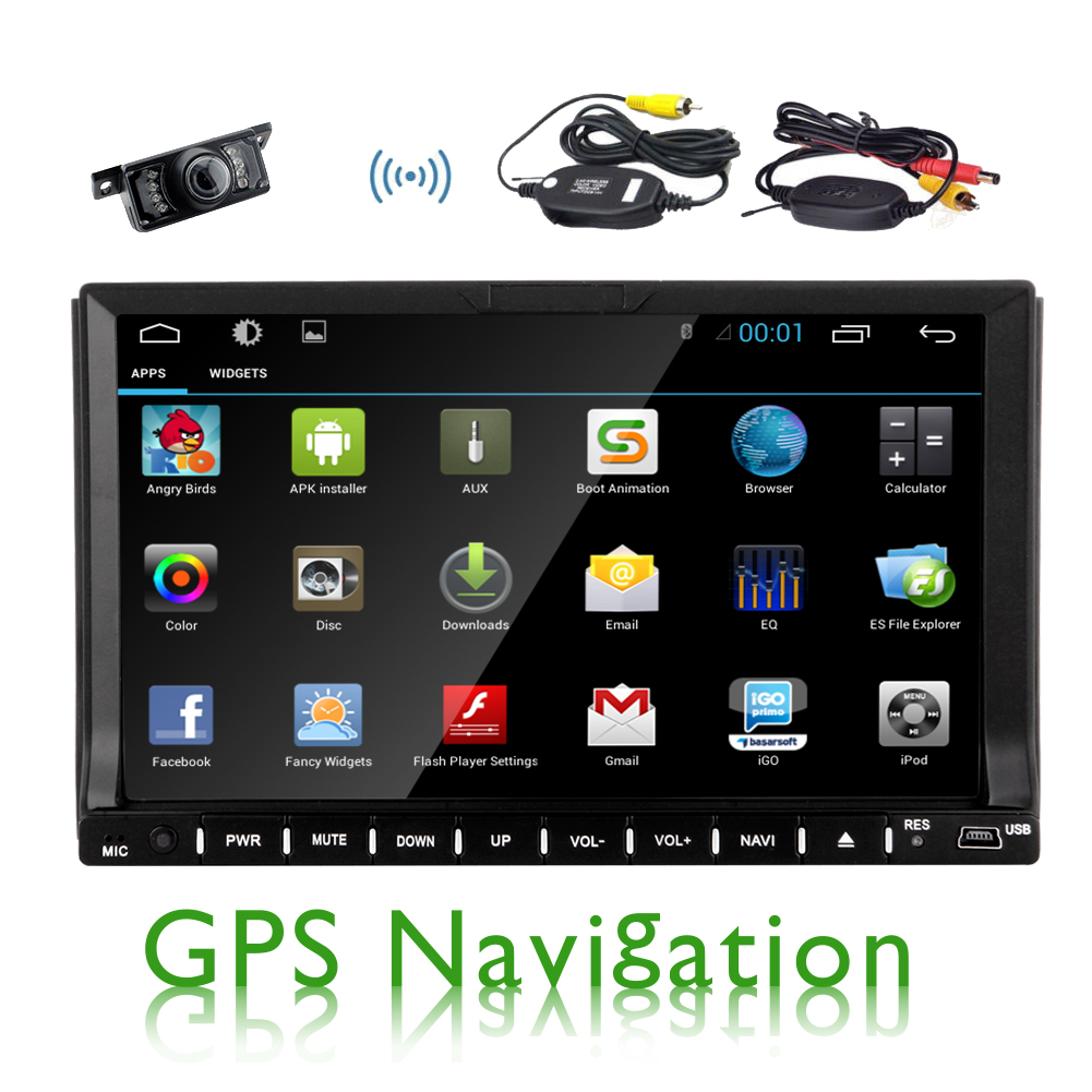 Pure Android 4.4 GPS Capacitive System Auto radio BT Audio In Dash PC Audio Head Unit Car Stereo CD DVD Player... by EinCar