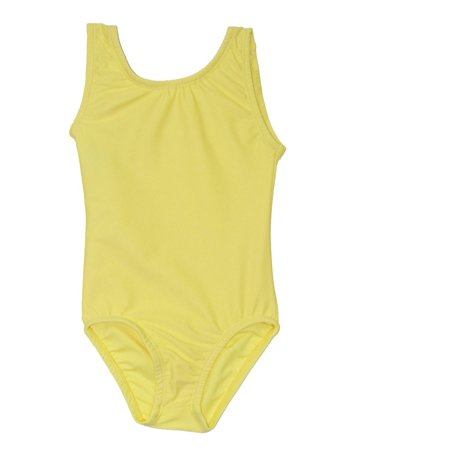 Little Girls Lemon Yellow Full Front Lining Tank Dancewear Leotard 2-4](Full Body Leotard)