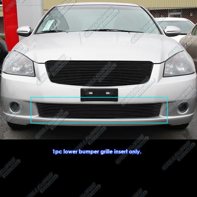 Fits 05-06 Nissan Altima Lower Bumper Black Billet Grille Insert #N85416H