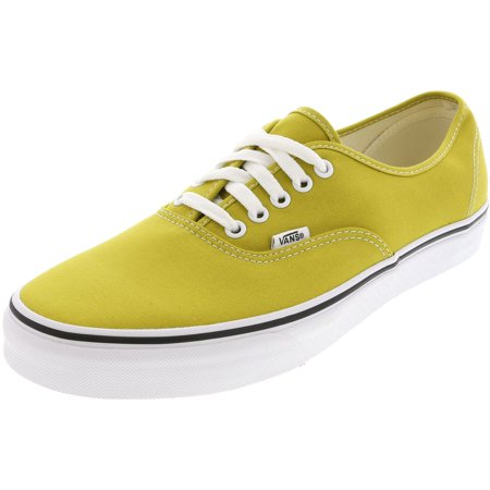 Vans Men's Authentic Cress Green / True White Ankle-High Canvas Skateboarding Shoe - 11.5M (Vans Woman Neon)