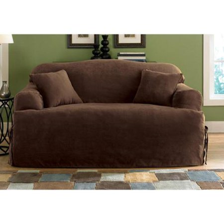 Sure Fit Smooth Suede T Cushion Sofa Slipcover