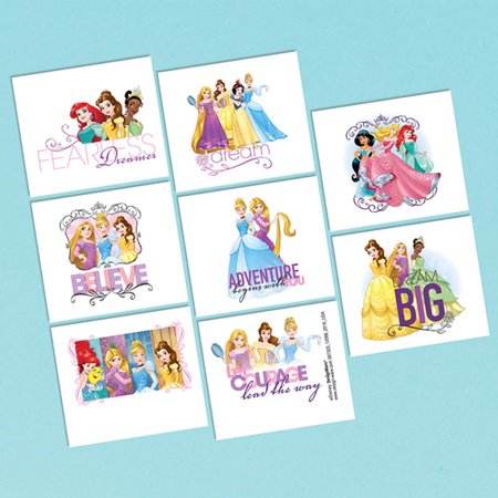 Disney Princess Tattoo Favors (16 Pack) - Party Supplies for $<!---->