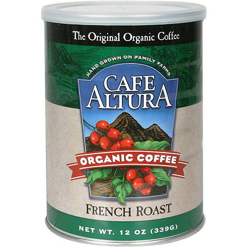 Cafe Altura Organic French Roast Coffee, 12 oz (Pack of 6)